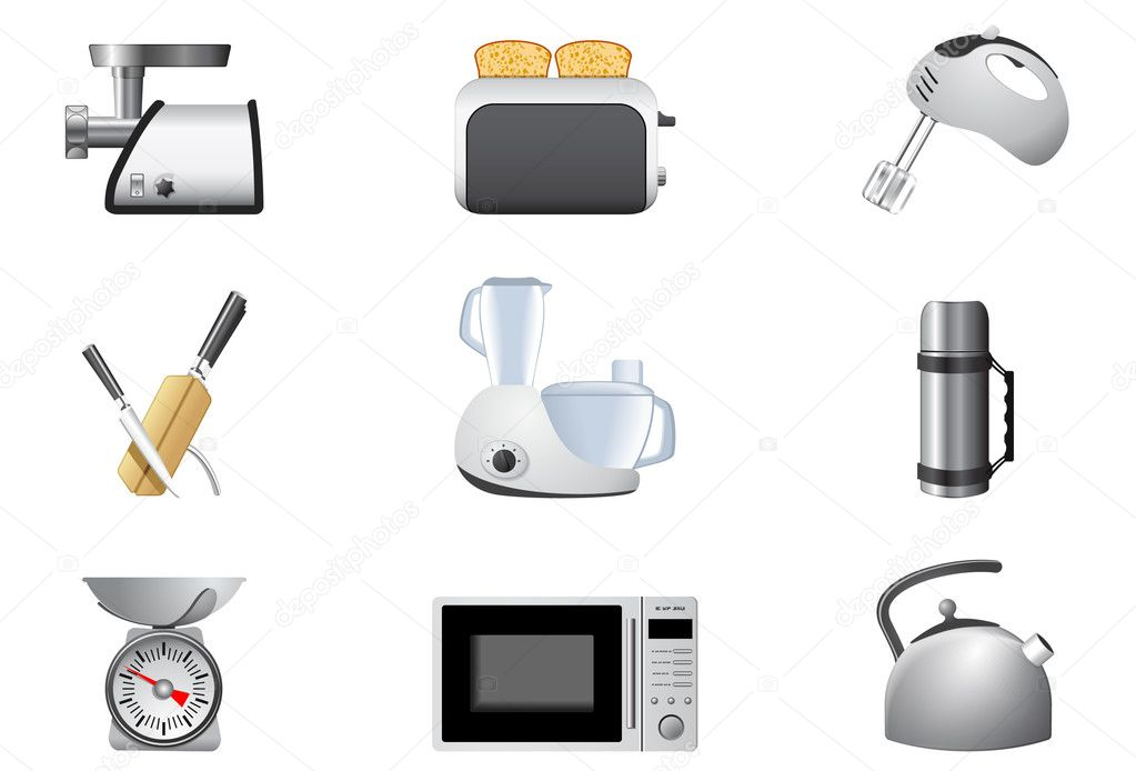 Household appliances, Kitchen — Imagen vectorial #5353257