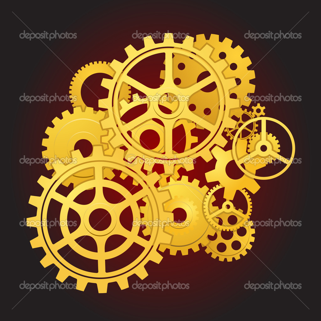 Gears in motion — Stock Vector #5353261