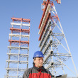 Stock Photo: Engineer in industrial site