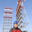 Foto Stock: Engineer in industrial site