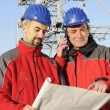 Engineers in an industrial site — Stock Photo