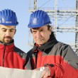 Engineers in an industrial site — Stockfoto