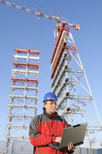 Engineer in an industrial site — Stock Photo