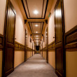 Luxury hotel interior corridor — Stock Photo