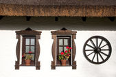 Windows of hungarian csarda — Stock Photo