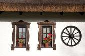 Windows of hungarian csarda — Stock Photo