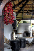 Traditional hungarian rural kitchen — Stock Photo