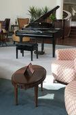 Piano in the lobby bar — Stock Photo
