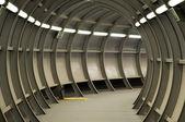 Futuristic tunnel — Stock Photo