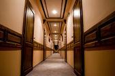 Luxury hotel interior corridor — Stock Photo