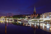 Bremen at night — Stock Photo