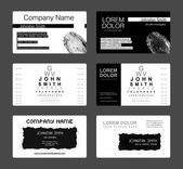 Business card template — Stock Photo