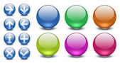 A set of web buttons — Stock Photo