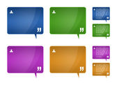 Testimonials blocks for web template design — Stock Photo