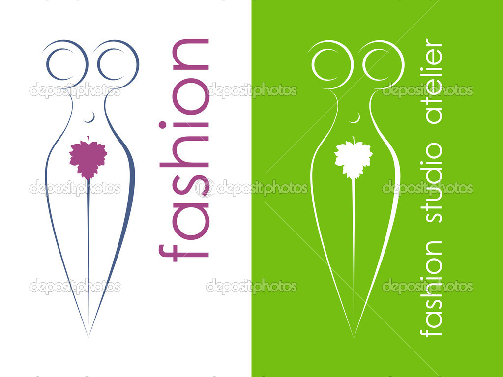 Symbol of fashion design studio of different color  Stock Vector #5338488