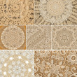 Stock Photo: Doily Lace Backgrounds assorted