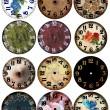 facce di orologio orologio grunge 12 — Foto Stock