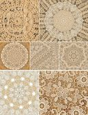 Doily Lace Backgrounds assorted — Stock Photo