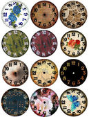 Grunge Clock Watch Faces 12 — Stock Photo