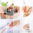 Invest in real estate. Business collage. - Stockfoto