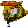 Flag and map of New Brunswick — Stock Photo