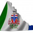 Flag and map of Yukon Territory — Stock Photo