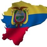 Flag and map of Ecuador — Stock Photo