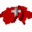 Flag and map of Switzerland — Stock Photo