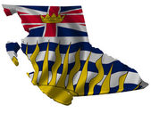 Flag and map of British Columbia — Stock Photo