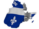 Flag and map of Quebec — Stock Photo