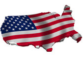 Flag and map of United States of America 2 — Stock Photo