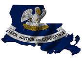 Flag and map of Louisiana — Stock Photo