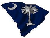 Bandera y mapa de carolina del sur — Foto de Stock
