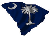 Flag and map of South Carolina — Stock Photo