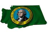 Flag and map of Washington — Stock Photo
