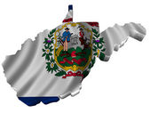 Flag and map of West Virginia — Stock Photo