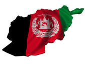 Flag and map of Afghanistan — Stock Photo