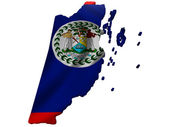 Flag and map of Belize — Stockfoto
