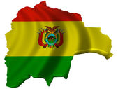 Flag and map of Bolivia — Stock Photo