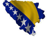 Flag and map of Bosnia and Herzegovina — Stock Photo