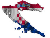 Flag and map of Croatia — Stock Photo