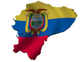 Flag and map of Ecuador — Stock Photo