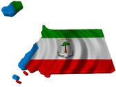 Flag and map of Equatorial Guinea — Stock Photo