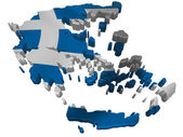 Flag and map of Greece — Stock Photo