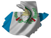 Flag and map of Guatemala — Stock Photo