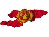 Flag and map of Kyrgyzstan — Stock Photo