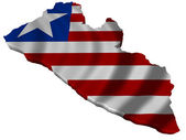Flag and map of Liberia — Stock Photo