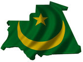 Flag and map of Mauritania — Stock Photo