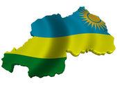 Flag and map of Rwanda — Stock Photo
