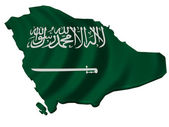 Flag and map of Saudi Arabia — Stock Photo